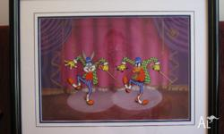 Limited Edition Animation Cel 717/1200. Features Bugs