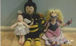 The Fairies soft toys Barnaby, Harmony, Rhapsody and