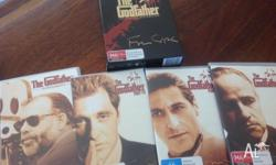 The godfather box set. Comes with 4 DVDs the godfather