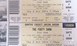 The Grand Final Footy Show - 2 TABLE TICKETS ON OFFER!
