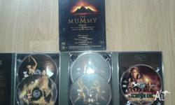 The Mummy Collectors Set. 3x DVD movies. - 5 DVD's in