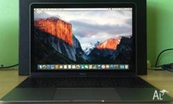the New Macbook 12-inch black 8G Ram 256G SSD with 2