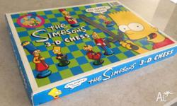Rare 1992 The Simpsons 3D Chess set, Collectors Item,