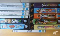 The Sims for PC. The Sims 1, The Sims 2, The Sims 3 and