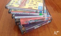 Up for sale are The Sims PC Games. (3 Expansion Packs &