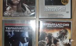 The Terminator Quadrilogy 4 x DVD movies. - 5 DVD's in
