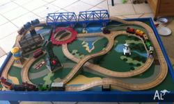 Used Thomas the tank engine set with table as