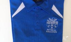 1x PE shirt, size: 12 1x PE Golf shirt, size: 16 3x
