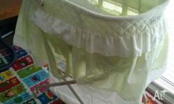got three items for sale a love n care baby bassinet,