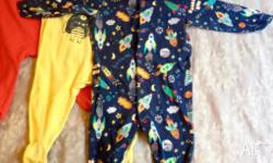 Three Next sleep suits. Beautifully soft, 100% cotton.