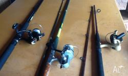 Combo 1- Reel is a Daiwa 4000c. An oldie but a goodie,
