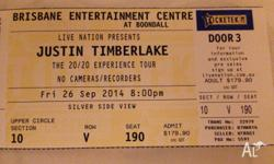 Selling 1 Ticket for Justin Timberlake's Concert In