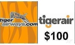Unused $100 Tiger Airways (TigerAir) Flight Voucher