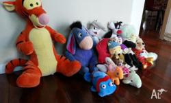 Various collection of stuffed toys all clean and in