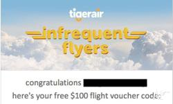 Got 1 spare Tigerair voucher left that I'm looking to