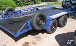 Up for sale i have a tilt tandem car trailer. It is 1.9