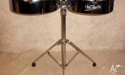 "Timbales 13"" and 14"" on Adjustable Stand [DE 0168]"