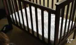 Used timber baby cot in excellent condition. Usual wear