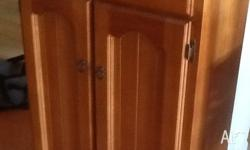 2 door, 2 drawer, 3 shelf timber cabinet