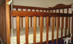 I'm selling my little one's timber cot and change