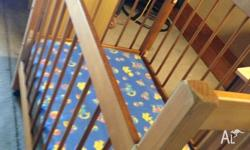 Timber Cot & Baby Cot Mattress Adjustable Sides, both
