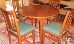Solid Timber Dining Table and 4 chairs, as new, no