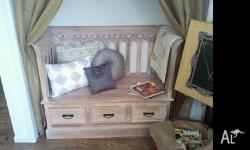 Gorgeous timber love seat, perfect for that cosy