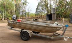 3.7 Flat Bottom Tinny - 25hp Yamaha 2011 model with