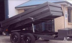 TIPPER TRAILER DUEL AXEL EXTENED DRAW BAR 3000KG, 2011,