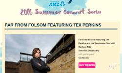 I have two tix to the Tex Perkins 'Far From Folsom' gig