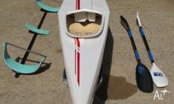 TK2 Racing kayak made by Competion Kayaks in excellent