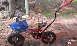 Toddlers Lightning mcqueen bike with trainging wheels