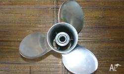 TOHATSU STAINLESS STEEL PROPELLER SUIT 25-30HP TWO