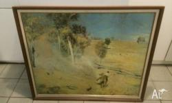 "I have for sale a framed tom roberts ""the breakaway"