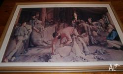 Large, attractive print of Tom Roberts' Australian