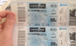2 tickets for $220. rod laver arena 7pm 23rd jan. 8