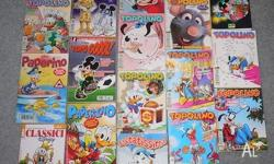 Mickey Mouse - TOPOLINO In Italian 15 comics 1 book -