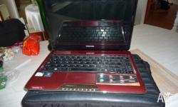 Toshiba Satellite T110 in burgundy red, excellent