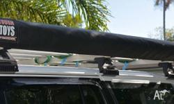 Toughboy 2x3 metre side awning with LED light, dimmer