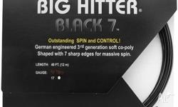 One string set of Tourna Poly Big Hitter Black 7 in