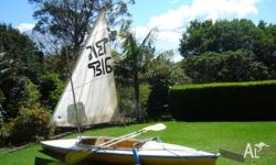 excellent condition, sail included, 2 removable seats,