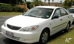 TOYOTA, CAMRY, ALTISE, 2003, FWD, White, GREY trim, 4D