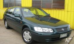 TOYOTA,CAMRY,SXV20R,1999, FWD, Green, Grey trim, 4D
