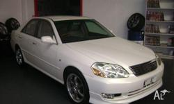 TOYOTA,CHASER,2000, FWD, WHITE, CREAM trim, 4D SEDAN,