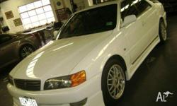 TOYOTA,CHASER,1997, FWD, WHITE, GREY trim, 4D SEDAN,