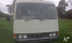 Hi there i have my 1976 toyota coaster motor home for