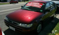TOYOTA,COROLLA,1998, FWD, Maroon, 4D SEDAN, UNLEADED
