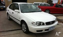 TOYOTA,COROLLA,ZZE122R,2001, FWD, WHITE, 5D HATCHBACK,