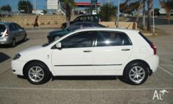 TOYOTA,COROLLA,ZZE122R,2003, FWD, WHITE, 5D HATCHBACK,