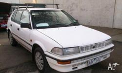 TOYOTA,COROLLA,1993, White, HATCHBACK, 1.6L, MANUAL,